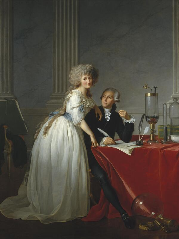 Portrait of Antoine-Laurent Lavoisier and his wife, 1788.